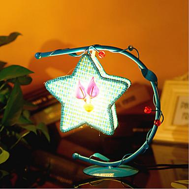 Kreative pentagram lampe soverom nattbordlampe belysning lamper av ...