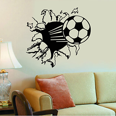 4047 hot sale soccer ball football vinyl wall decal for Sports decals for kids rooms