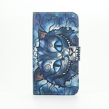 Blue Cat Patter Кожа PU Полный Дело Корпус с подставкой для WIKO Lenny2