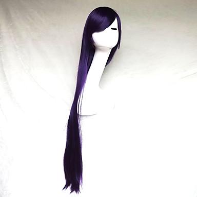Cosplay Wig Purple Color Carve One Meter Long Straight Hair Wig