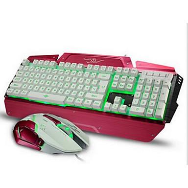 1600Dpi verdrahtete Spiel USB-Tastatur-Maus-Anzug mit LED