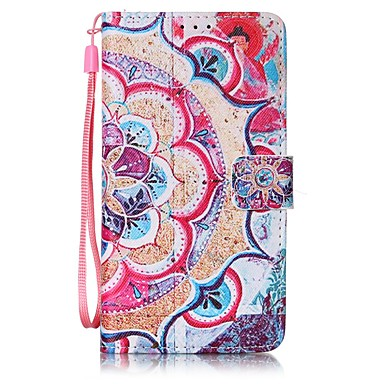 Half Flower Painted PU Leather Material of the Card Holder Phone Case Foramsung GalaxyA32016 A52016