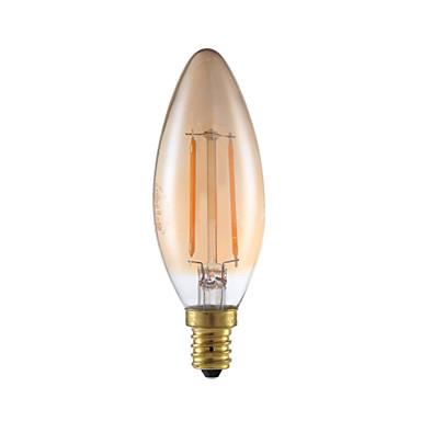 E12 Lampadine LED a incandescenza B 2 COB 160 lm Ambra ...