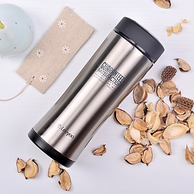 Classic Sports Outdoor Drinkware, 350 ml Heat Retaining Portable Stainless Steel Polypropylene Coffee Water Vacuum Cup