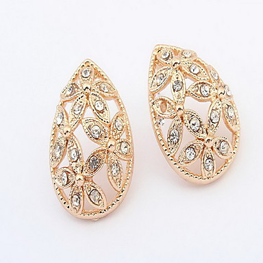 Stud Earrings Jewelry Euramerican Fashion Personalized Rhinestone Alloy Jewelry Jewelry For Wedding Special Occasion 1 Pair