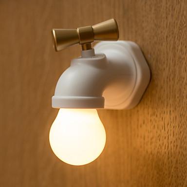 BRELONG Voice Control Faucet Shape Night Lamp   Black/White  Warm White Light