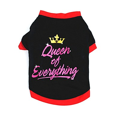 Cat Dog Shirt / T-Shirt Vest Dog Clothes Party Casual/Daily Tiaras  Crowns Black