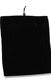 Protective Soft Cloth Pouch Case for iPad 1/2/3/4 and Others (Black)