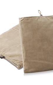 protecteur caisse de poche de tissu doux pour 1/2/3/4 ipad et autres (brun)