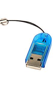 Mini USB 2.0 TF Card Reader (blau)