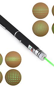 Pen Shape 5-Mønster Special Effect 5mW 532nm grøn laser pointer (2xAAA)