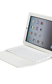 Custodia in pelle PU con tastiera Bluetooth Wireless e supporto per iPad 2