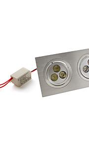 7W Innfelt lampe / Taklys Innfelt retropassform 6 Høyeffekts-LED 540 lm Naturlig hvit AC 85-265 V