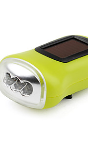 1-mode 3-LED lommelygte (sol / dynamo-drevne, assorterede farver)