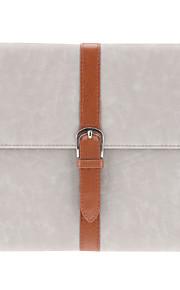 spänne designen PU läderfodral med ställ för iPad 2/3/4 (blandade färger)