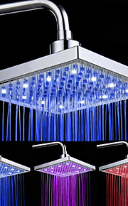 8-tommers 12-LED Square Ceiling Shower Head (Assorterte farger)