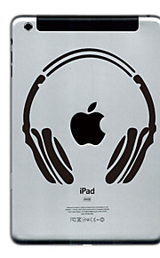 headset designen beskyddare klistermärke för iPad Mini 3, iPad Mini 2, iPad Mini