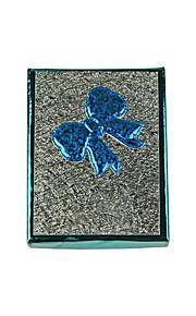 lureme®9.3x7cm bue papir opbevaringsboks til smykker (blå)