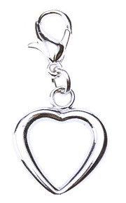Hollow Heart Style Collar Charm for Hunde Katte