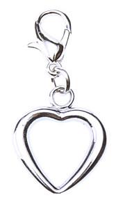 Katzen / Hunde Schilder Herzförmig Silber Metall
