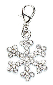 Dog tags Rhinestone Decorated Snow Flake Style Collar Charm for Dogs Cats