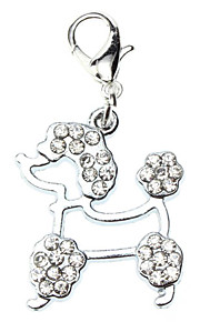 Dog tags Rhinestone Decorated Poodles Style Collar Charm for Dogs Cats