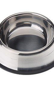 Stainless Steel anti-udskridning Pet Food Bowl for Hunde Katte (XS-XXL)
