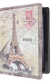 paris wzór retro wieża pu skórzane etui dla iPada 2/3/4