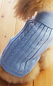 Katzen / Hunde Pullover Blau Hundekleidung Winter einfarbig