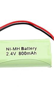 2.4V 800 mAh oplaadbare AAA NI-MH batterij met PH Port