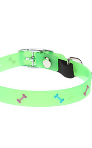 Cat / Dog Collar Fluorescent Green Textile