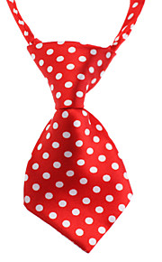 Liten Spot Pattern Neck Tie for Husdyr Hunder Cats (Neck: 26-38cm)