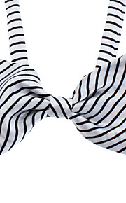 Zebra Stripes Pattern bowknot Neck Tie for kjæledyr Hunder Katter (Neck: 26-38cm)