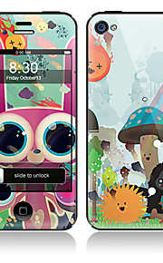 Cartoon Animals modello anteriore e posteriore ente completo Adesivi Protector per iPhone 5