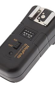 3-em-1 Nicefoto N-16 de 2,4 GHz sem fio de disparo flash Controle Remoto Set para Nikon Camera