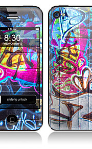 Scrawl Design Front and Back Full Body Protector Stickers for iPhone 5