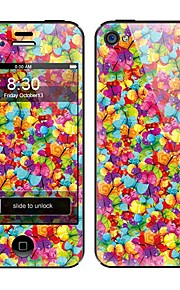 Colorful Flower Pattern Front and Back Full Body Protector Stickers for iPhone 5