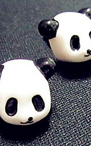 3.5mm Cute Panda Head enchufe del Anti-polvo