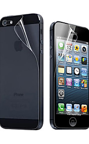 3X Clear Front and Back Screen Protector for iPhone 5