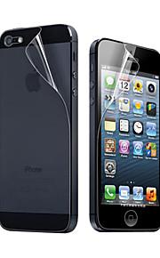 3X Rensa Front och Back Skärmskydd till iPhone 5