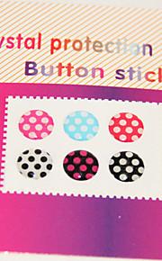 דפוס נקודות Joyland כפתורי מדבקה לiPhone / iPad / iTouch (חבילה 6)