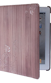 360 graders dreibar Vertikale linjer med Maple Leaf Pattern Full Body sak med stativ for iPad 2/3/4