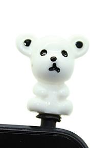 Plastic Bear Pattern Anti-Staub Stecker (zufällige Farben)