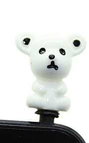 Muovi Bear Pattern Anti-pöly Plug (Random Colors)