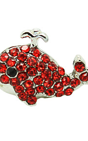Silver Plated Alloy Zircon Dolphin Pattern Anti-dust Plug(Random Colors)