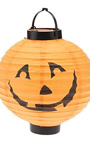 Lanterna da abóbora com LED (cor aleatória, 2xAAA)
