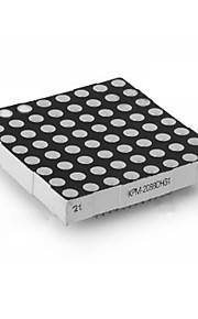 8x8 Dot-Matrix LED Display 5mm Red LED Common Cathode 60x60mm - Black