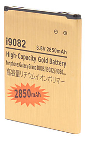 Hoge capaciteit 2850mAh Extended Lithium-ion Battery Gold voor Samsung Grote DUOS i9082/i9080