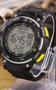 Masculino Relógio Esportivo Digital Cronógrafo Banda Vermelho / Laranja / Roxa / Amarelo