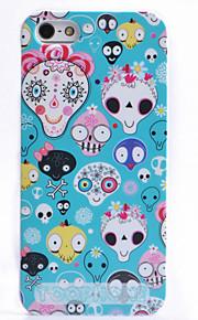 조이 랜드 다채로운 만화 두개골 본은 아이폰 5/5S (분류 된 색깔)를위한 케이스를 위로 ABS